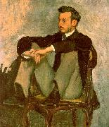 Frederic Bazille Portrait of Renoir oil painting artist